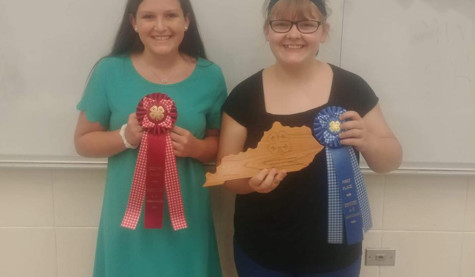 Winners Katie Lucas and Allyson Montgomery